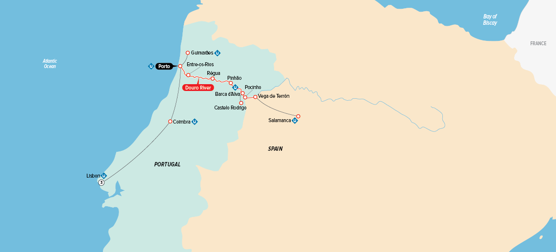 portugal,-spain-&-the-douro-map