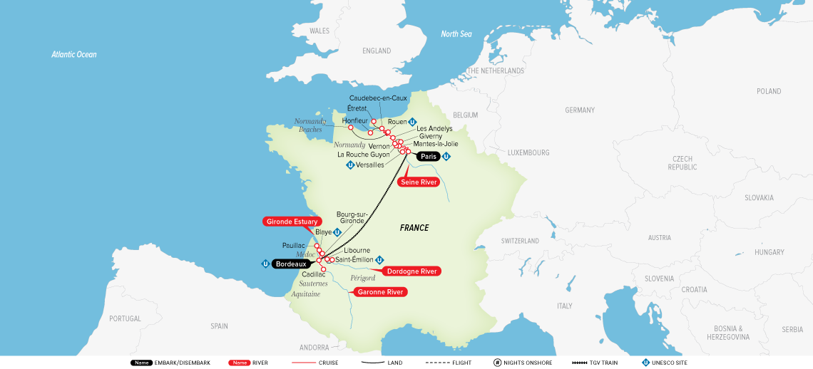 Map Of France Giverny.A Portrait Of Majestic France 2019 Europe River Cruise Uniworld