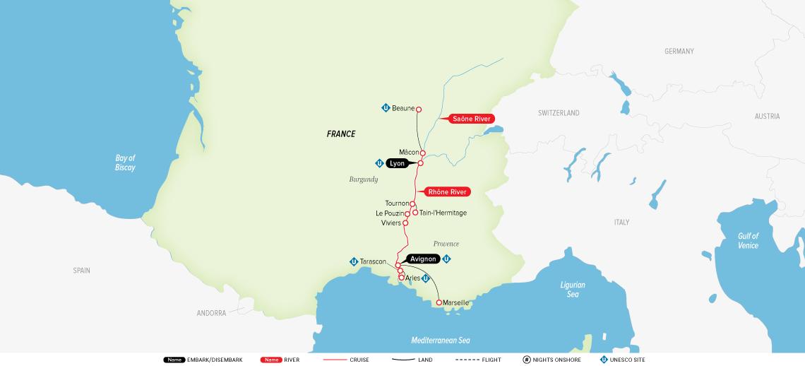 burgundy-&-provence-map